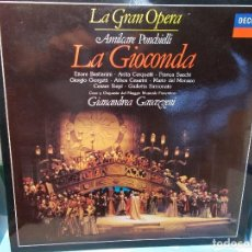 Discos de vinilo: PONCHIELLI LA GIOCONDA SELECCIÓN GAVAZZENI LP COMO NUEVO. Lote 101757199