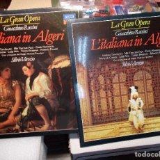 Discos de vinilo: ROSSINI LA ITALIANA IN ALGERI COMPLETA VARVISO 2 LP COMO NUEVOS. Lote 101757327