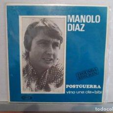 Discos de vinilo: ** MANOLO DIAZ - POSTGUERRA / VINO UNA OLA / BIBI - EP AÑO 1967. Lote 101768835