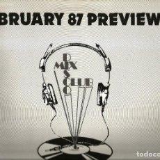 Discos de vinilo: LP DJ MEMBERS ONLY - FEBRUARY 87 PREVIEWS ( DIVINE, SIMPLY RED, RITA MITSOUKO, THE TAURUS BOYS, ETC . Lote 101779035