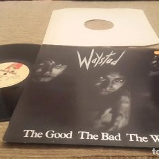 Discos de vinilo: WAYSTED LP. THE GOOD THE BAD THE WAYSTED MADE IN UK 1985. MUSIC FOR NATIONS. Lote 101792263