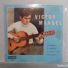 Discos de vinilo: ** VICTOR MANUEL - LA ROMERIA / PAXARINOS / EL MENDIGO / EL ABUELO VITOR - EP AÑO 1970 - PROMOCION. Lote 101823115
