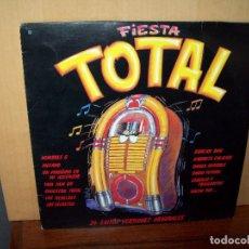 Discos de vinilo: FIESTA TOTAL - 24 EXITOS GRUPOS ESPAÑOLES - DOBLE LP. Lote 101853551