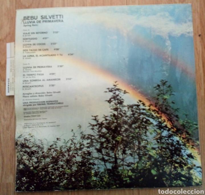 Discos de vinilo: BEBU SILVETTI. LLUVIA DE PRIMAVERA 1977. SPAIN HISPAVOX. SPRING RAIN - Foto 2 - 101844382