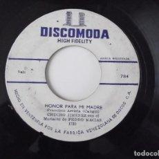 Discos de vinilo: CHUCHO JIMENEZ Y EL MARIACHI DE PEDRO MACIAS - HONOR PARA MI MADRE. Lote 101903947