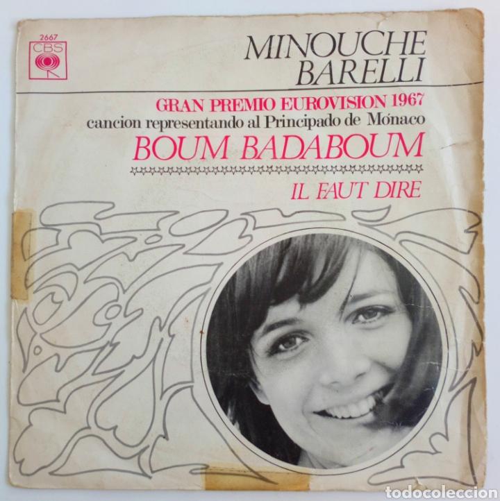 MINOUCHE BARELLI 1967 GRAN PREMIO EUROVISIÓN REPRESENTANDO AL PRINCIPADO DE MÓNACO. CBS ESPAÑA (Música - Discos - Singles Vinilo - Festival de Eurovisión)