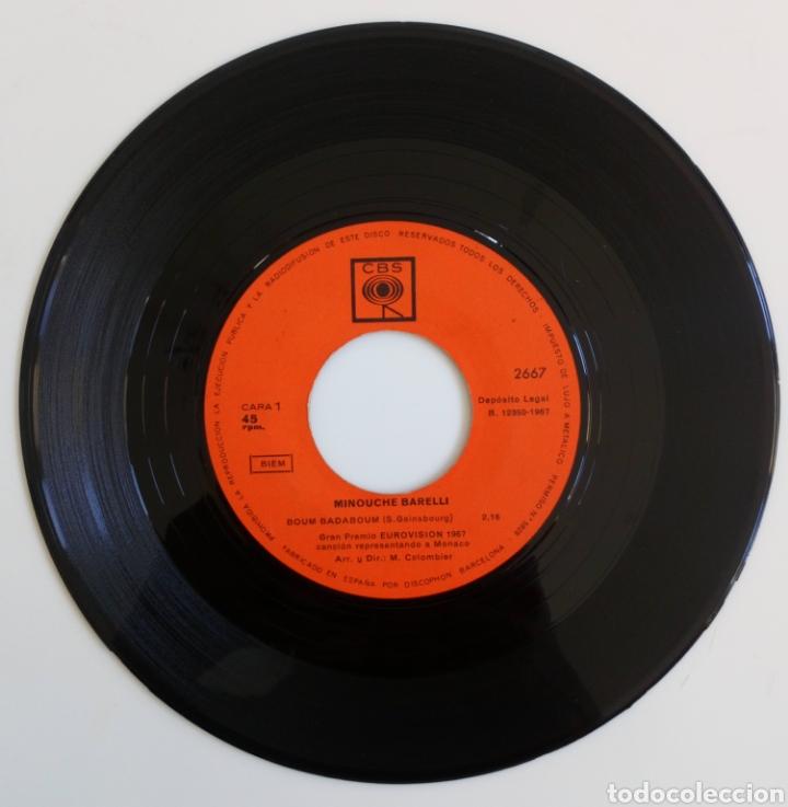 Discos de vinilo: MINOUCHE BARELLI 1967 GRAN PREMIO EUROVISIÓN REPRESENTANDO AL PRINCIPADO DE MÓNACO. CBS ESPAÑA - Foto 3 - 101910202