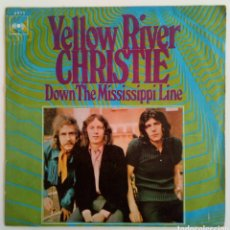 Discos de vinilo: YELOW RIVERA. CHRISTIE 1970 DOWN THE MISSISSIPPI LÍNE. Lote 101919280