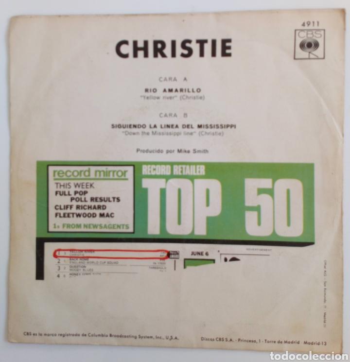 Discos de vinilo: YELOW RIVERA. CHRISTIE 1970 DOWN THE MISSISSIPPI LÍNE - Foto 2 - 101919280
