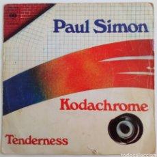 Discos de vinilo: PAUL SIMON 1973 KODACHROME SINGLE CBS. ESPAÑA. Lote 101919536