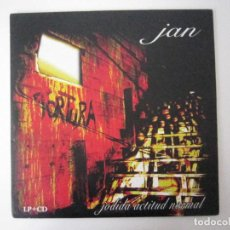Discos de vinilo: LP + CD - HARDCORE - JAN (JODIDA ACTITUD NORMAL) - 2011 - VIZCAYA. Lote 101924955