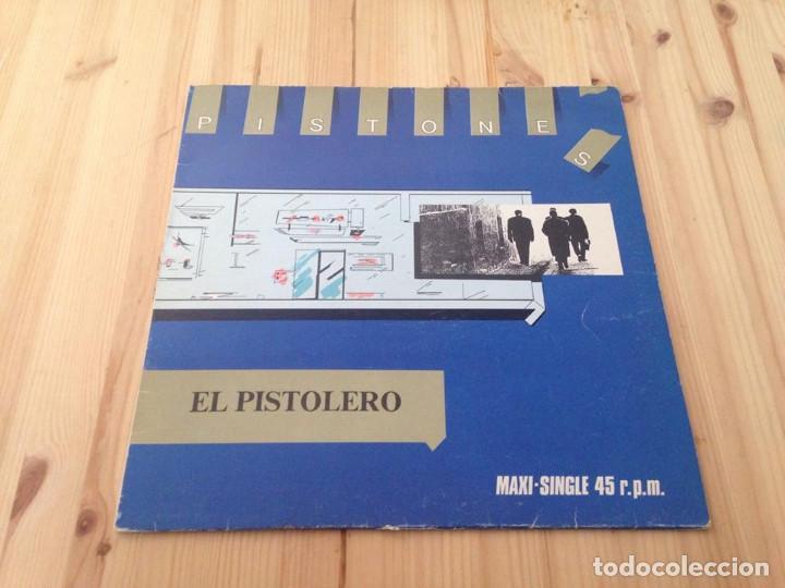 PISTONES -- EL PISTOLERO (12--- MAXI) (Música - Discos de Vinilo - Maxi Singles - Grupos Españoles de los 70 y 80)