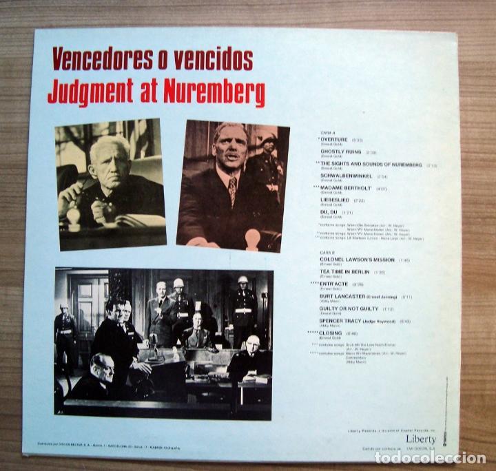 Discos de vinilo: musica, Disco vinilo, lp, banda sonora pelicula vencedores o vencidos, judment at nuremberg, cine - Foto 2 - 101937723