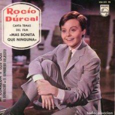 Discos de vinilo: ROCIO DURCAL - MAS BONITA QUE NINGUNA, EP, MI CORAZÓN + 3, AÑO 1965. Lote 101945915