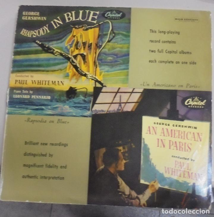 LP. RHAPSODY IN BLUE / AN AMERICAN IN PARIS. CAPITOL RECORDS (Música - Discos - LP Vinilo - Bandas Sonoras y Música de Actores )