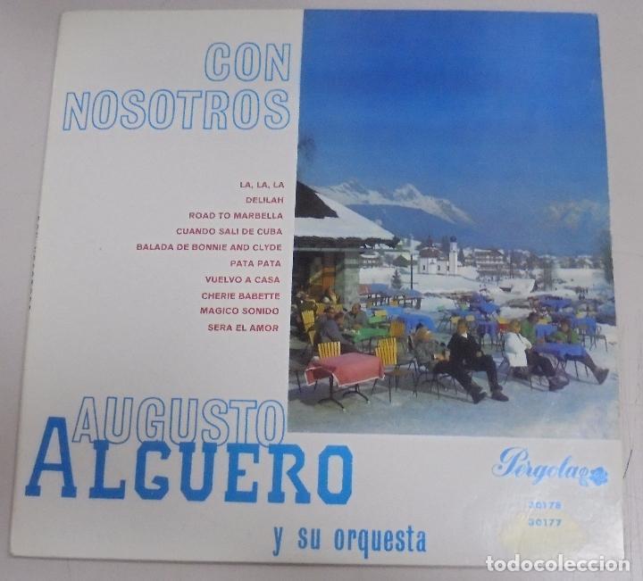 MAXI SINGLE. CON NOSOTROS. AUGUSTO ALGUERO Y SU ORQUESTA. 1968 (Música - Discos de Vinilo - Maxi Singles - Orquestas)