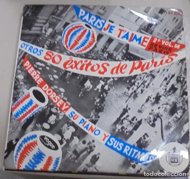 LP. PARIS JE T'AIME. 2º VOL. DE REVOIR PARIS. OTROS 80 EXITOS DE PARIS. HISPAVOX. (Música - Discos - LP Vinilo - Étnicas y Músicas del Mundo)