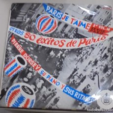 Discos de vinilo: LP. PARIS JE T'AIME. 2º VOL. DE REVOIR PARIS. OTROS 80 EXITOS DE PARIS. HISPAVOX.. Lote 101961915