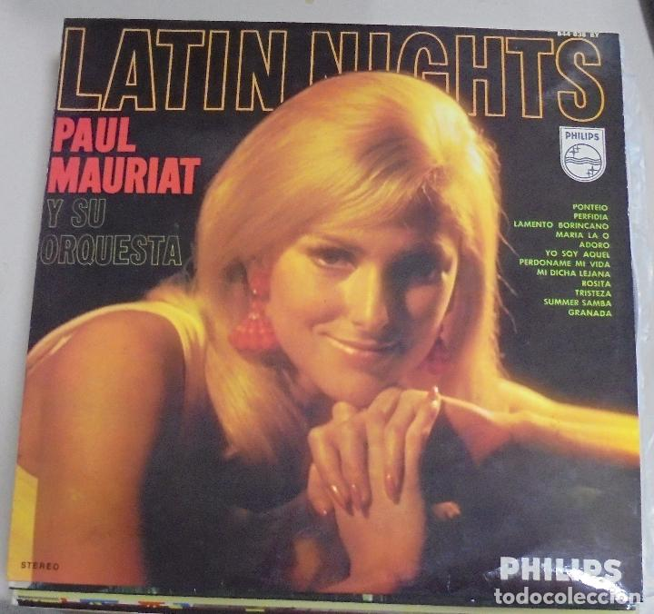 LP. LATIN NIGHTS. PAUL MAURIAT Y SU ORQUESTA. 1968. FONOGRAM (Música - Discos - LP Vinilo - Orquestas)