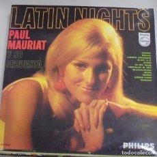 Discos de vinilo: LP. LATIN NIGHTS. PAUL MAURIAT Y SU ORQUESTA. 1968. FONOGRAM. Lote 101962279