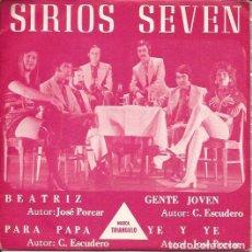 Discos de vinilo: EP-SIRIOS SEVEN BEATRIZ TRIANGULO 105 SPAIN 1971. Lote 101963439