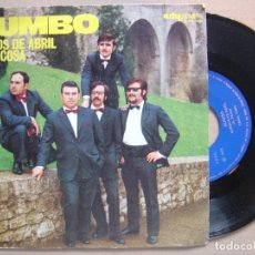 Discos de vinilo: RUMBO SUEÑOS DE ABRIL / POCA COSA SINGLE ARTYPHON 1973 COMO NUEVO. Lote 101963987