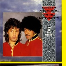Discos de vinilo: GARY MOORE & PHIL LYNOTT - OUT IN THE FIELDS 1985 - RARO MAXI 3 TEMAS, ORG EDT UK, TODO EXC. Lote 101966831