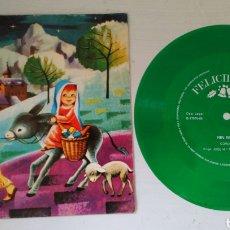Discos de vinilo: FELICIDADES 1969 RIN RIN. DISCO DE 45 VINILO FLEXIBLE. DOBLE PORTADA. CORO JOSÉ MA. PERRALLADA. Lote 101978314