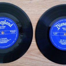Discos de vinilo: LOTE 2 DISCOS DISNEYLAND 1967 WALT DISNEY PRESENTA. LOS 8 CERDITOS Y LA CENICIENTA. VINILOS 45 RPM. Lote 101978618