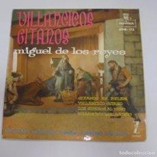 Discos de vinilo: SINGLE. VILLANCICOS GITANOS. MIGUEL DE LOS REYES. ORQUESTA MONTILLA. 1961. ZAFIRO. Lote 101983503