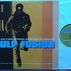 Discos de vinilo: VARIOUS - '' PULP FUSION '' VINYL 2 LP COMPILATION 1997 UK NEAR MINT. Lote 101983575
