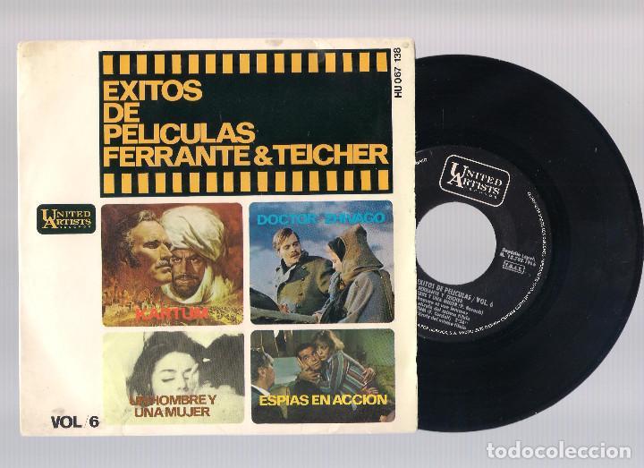 EXITOS DE PELICULAS FERRANTE & TEICHER VOL.6 - UN HOMBRE Y UNA MUJER + KARTUM... (EP 7'' 1966) (Música - Discos de Vinilo - EPs - Bandas Sonoras y Actores)