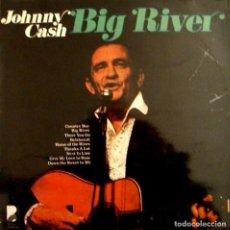 Discos de vinilo: LP JOHNNY CASH GIG RIVER. Lote 101999275