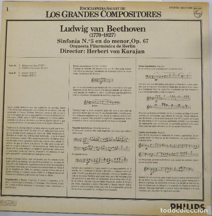 Discos de vinilo: BEETHOVEN - SINFONIA N.5 EN DO MENOR OP.67 - Foto 2 - 102003344