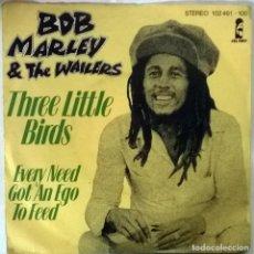 Discos de vinilo: BOB MARLEY & THE WAILERS THE LITTLE BIRDS/ EVERY NEED GOT AN EGO TO FEED. ISLAND GERMANY 1980 SINGLE. Lote 102019883