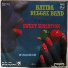Discos de vinilo: BATIDA REGGAE BAND. SWEET SENSATION/ SUGAR BUM BUM. PHILIPS, GERMANY 1989 SINGLE. Lote 102022379