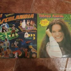 Discos de vinilo: LOTE 2 DISCOS DOBLES DE TERESA RABAL UNO DEDICADO CON AUTOGRAFO. Lote 102025479