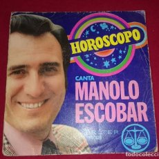 Discos de vinilo: MANOLO ESCOBAR - HOROSCOPO. Lote 102036219