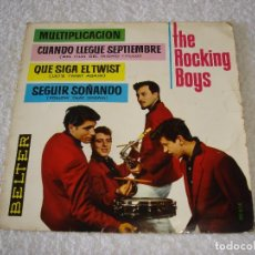 Discos de vinilo: THE ROCKING BOYS. EP.: MULTIPLICACION + 3 - EP - BELTER 1962. Lote 102055123