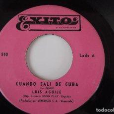 Discos de vinilo: LUIS AGUILE - CUANDO SALI DE CUBA / SOY COMO QUIERES TU. Lote 102055175