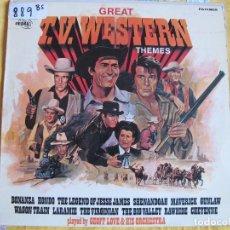 Discos de vinilo: LP - T.V. WESTERN THEMES - GEOFF LOVE AND HIS ORCHESTRA (SPAIN, POP REGAL 1972). Lote 102093615