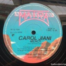 Discos de vinilo: CAROL JIANI – MERCY / THE WOMAN IN ME. EDICIÓN CANADA . Lote 102108923
