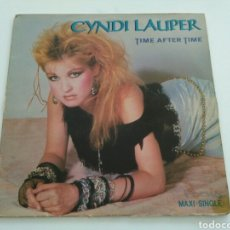 Discos de vinilo: CYNDI LAUPER - TIME AFTER TIME / GIRLS JUST WANNA HAVE FUN. Lote 156958804