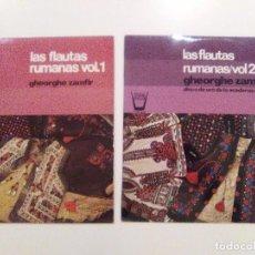 Discos de vinilo: LAS FLAUTAS RUMANAS VOL. 1 Y 2 GHEORGHE ZAMFIR ( 1975 HISPAVOX ESPAÑA ) BUEN ESTADO GENERAL. Lote 102113699