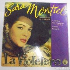 Discos de vinilo: SINGLE. SARA MONTIEL. LA VIOLETERA. HISPAVOX. Lote 102121899