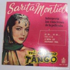 Discos de vinilo: SINGLE. SARITA MONTIEL. MI ULTIMO TANGO. 1960. HISPAVOX. Lote 102122023