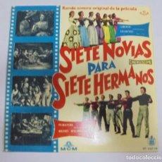 Discos de vinilo: SINGLE. SIETE NOVIAS PARA SIETE HERMANOS. BANDA SONORA. 1960. HISPAVOX. Lote 102122035