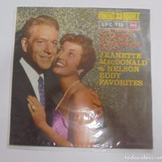 Discos de vinilo: SINGLE. JEANETTE MACDONALD & NELSON EDDY FAVORITES. 1961.. Lote 102122355