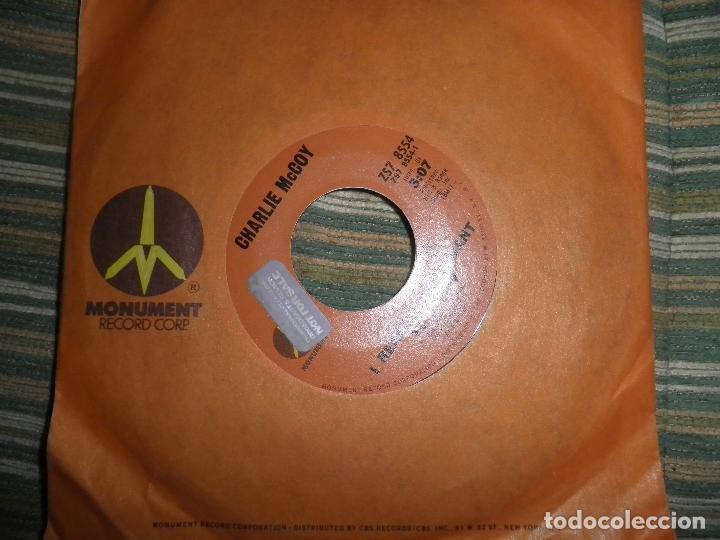 CHARLIE MCCOY - I REALLY DON´T WANT TO KNOW SINGLE PROMO - ORIGINAL USA - MONUMENT 1972 - (Música - Discos - Singles Vinilo - Country y Folk)