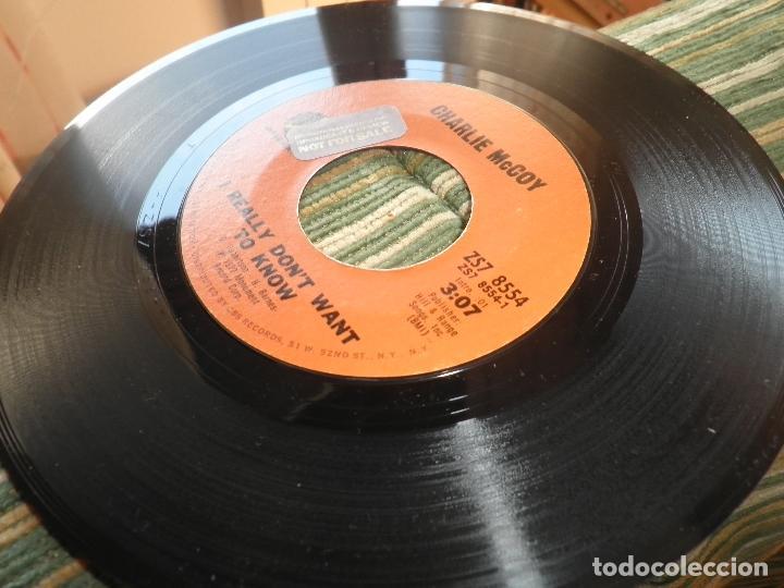 Discos de vinilo: CHARLIE McCOY - I REALLY DON´T WANT TO KNOW SINGLE PROMO - ORIGINAL USA - MONUMENT 1972 - - Foto 11 - 102168015